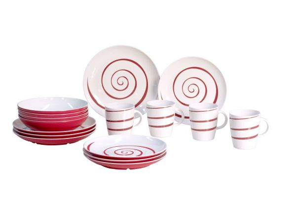 Tiefer Teller, Classic Line Twist red