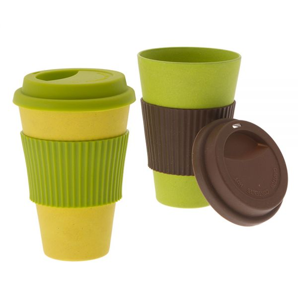 2 tlg. Set to-go Becher, Nature Line Bambus