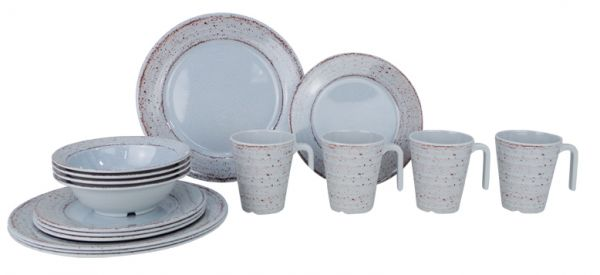 16 tlg. Geschirr-Set Casa grey