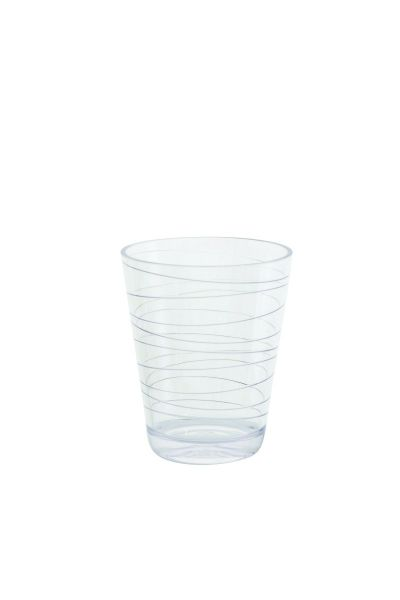 Wasser Glas, Retro Stripes, 2-er Set black & white