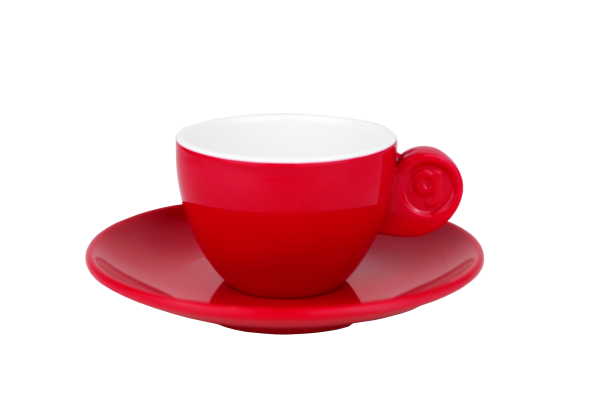 4 tlg. Set Espresso, red
