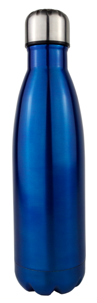 Thermoflasche, 500 ml, blau-metallic