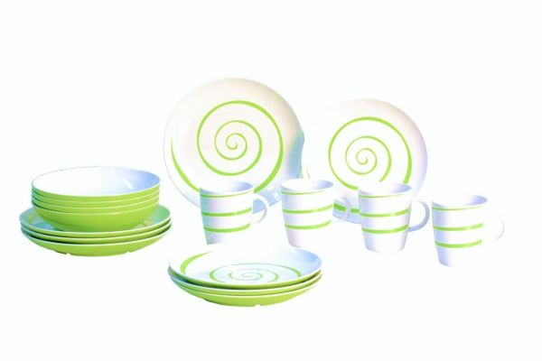 Dessertteller, Classic Line Twist green
