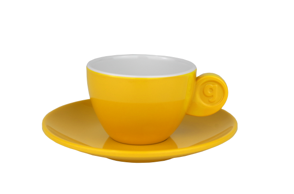 4 tlg. Set Espresso, yellow